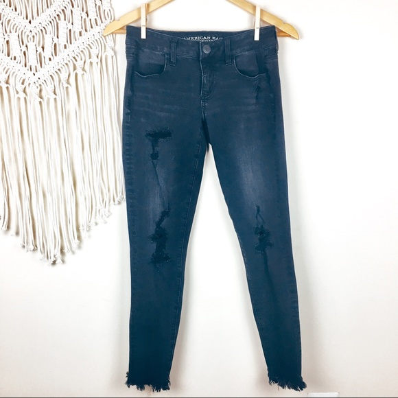 American Eagle Outfitters Denim - American Eagle •  Distressed Super Low Jeggings